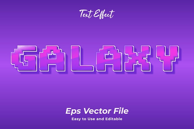Текстовый эффект галактика редактируемый