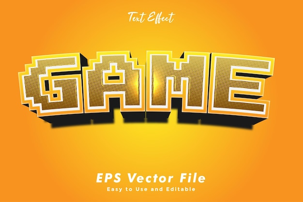 텍스트 효과-게임. 편집 가능한 글꼴 스타일