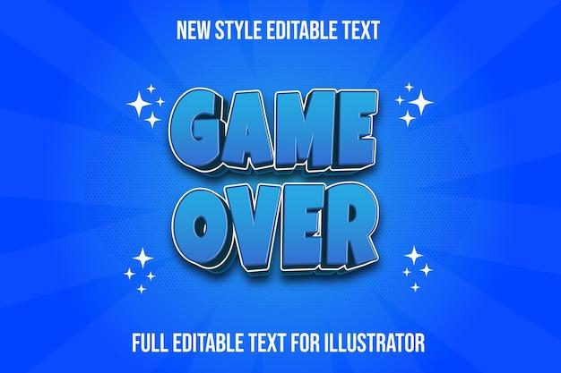 Текстовый эффект игры над цветным синим градиентом