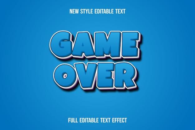 Игра с текстовым эффектом окончена на синем и фиолетовом градиенте
