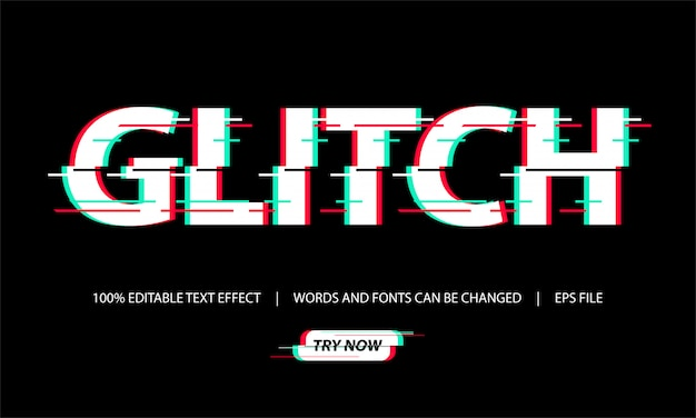 Text effect - glitch