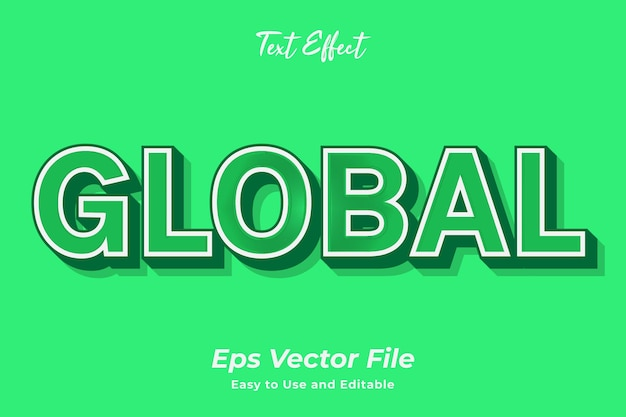 Text effect global editable and easy to use premium vector