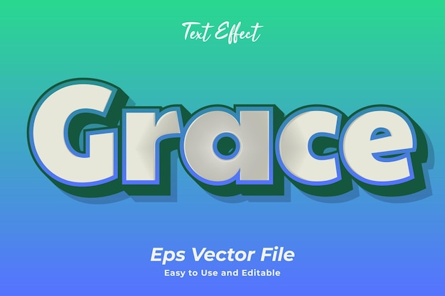 Text effect grace editable and easy to use premium vector