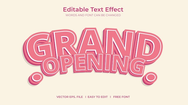 Text effect grand opening