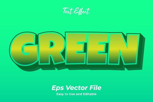 テキスト効果緑編集可能で使いやすいプレミアムベクター