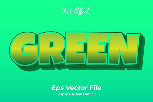 Text effect green editable and easy to use premium vector