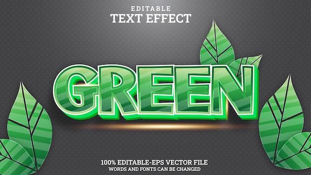 Text effect green editable