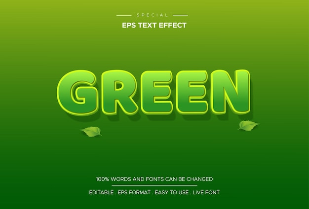 Text effect green