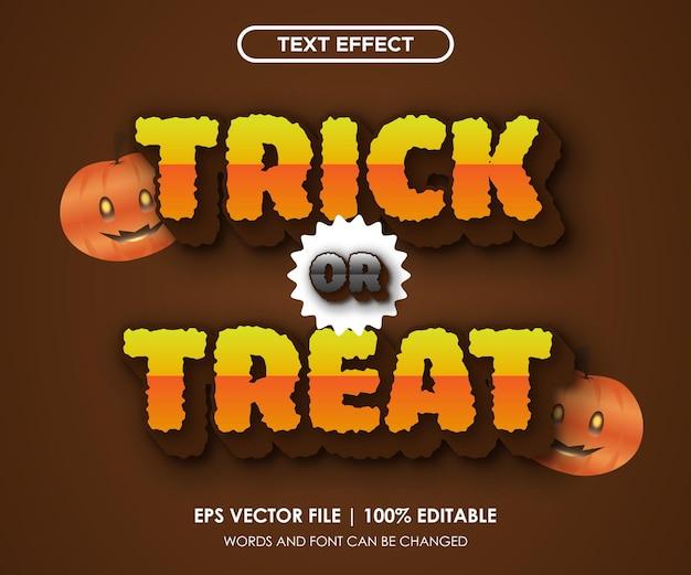Text effect halloween trick or treat editable