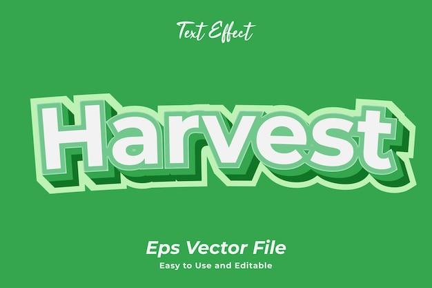 テキスト効果の収穫使いやすく編集可能なプレミアムベクター