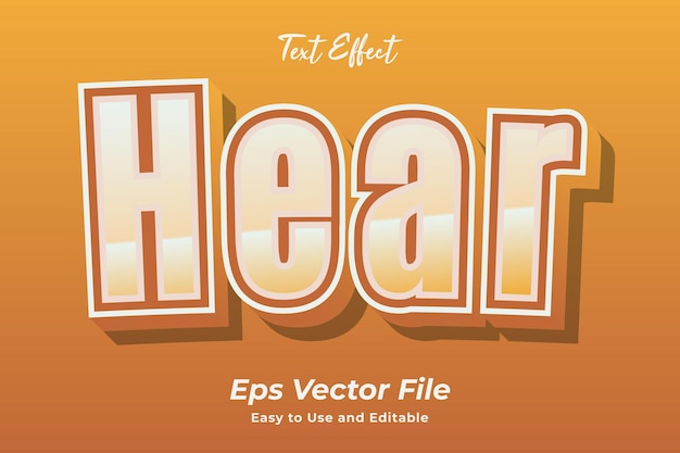 Text effect hear editable and easy to use premium vector