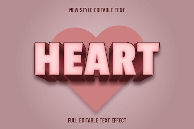 Текстовый эффект сердца с цветным кремом и коричневым градиентом