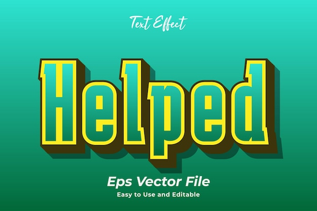 Text effect helped editable and easy to use premium vector