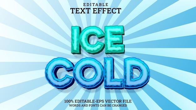 텍스트 효과 얼음 감기 편집 가능