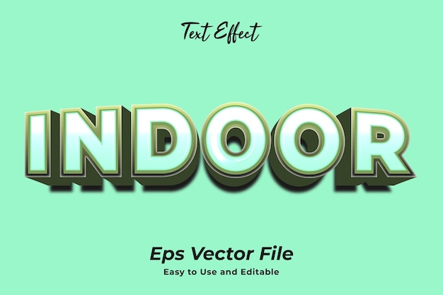 Text effect indoor editable and easy to use premium vector