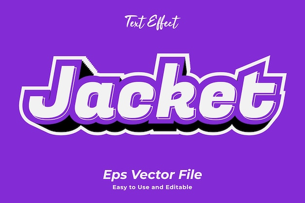 Text effect jacket editable and easy to use premium vector
