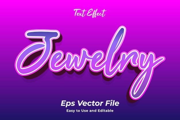 Text effect jewelry editable and easy to use premium vector