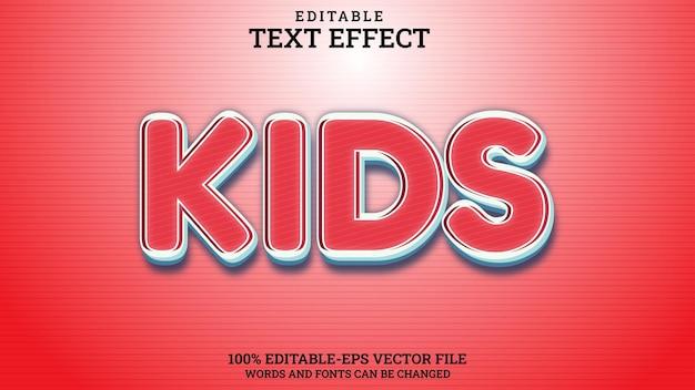 Text effect kids editable