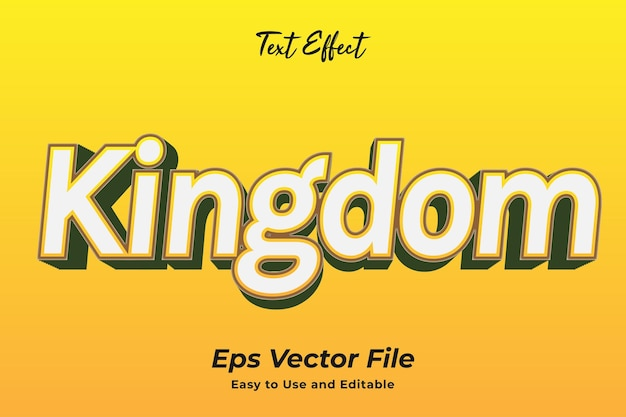 Text effect kingdom easy to use and editable premium vector