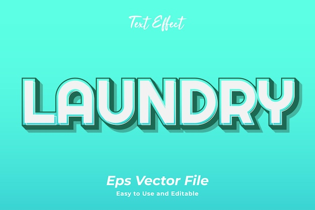 Text effect laundry editable and easy to use premium vector