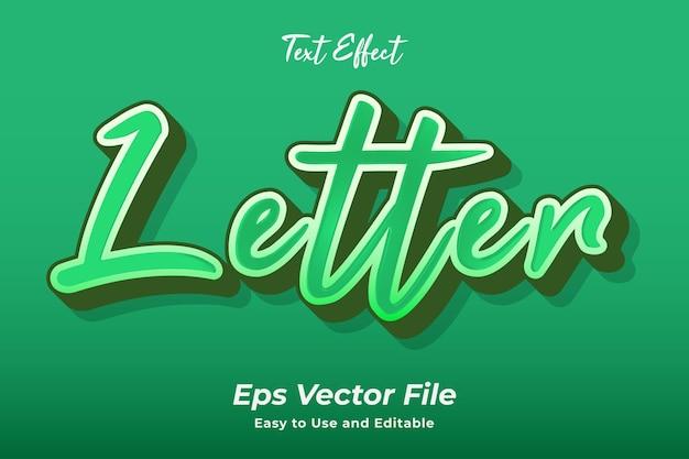 텍스트 효과 문자 편집 가능하고 사용하기 쉬운 프리미엄 벡터