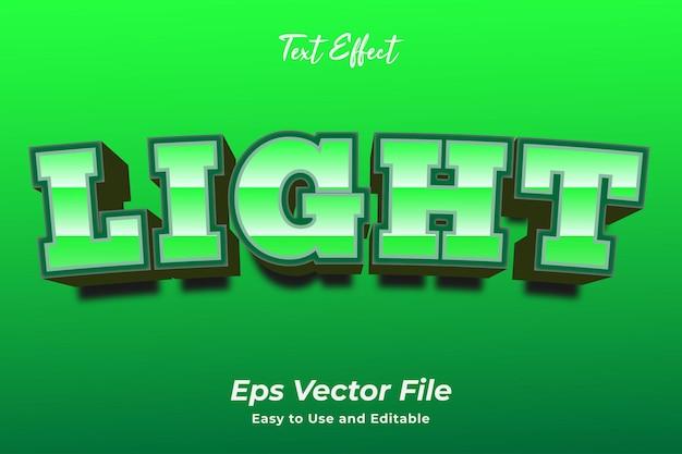 テキスト効果ライト編集可能で使いやすいプレミアムベクター