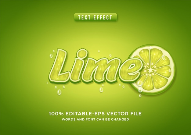 Text effect lime theme