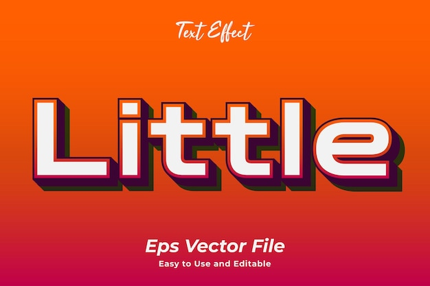 Text effect little editable and easy to use premium vector