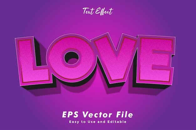 Текстовый эффект - любовь.