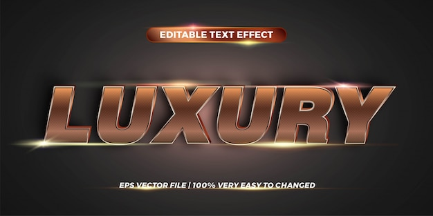 Text effect in  luxury words text effect theme editable metal gold color concept