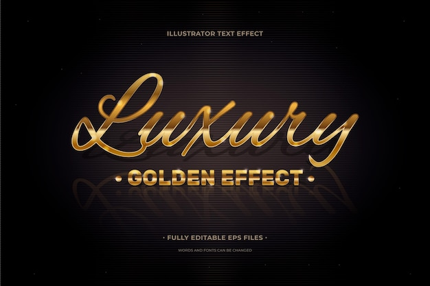 Text effect luxury