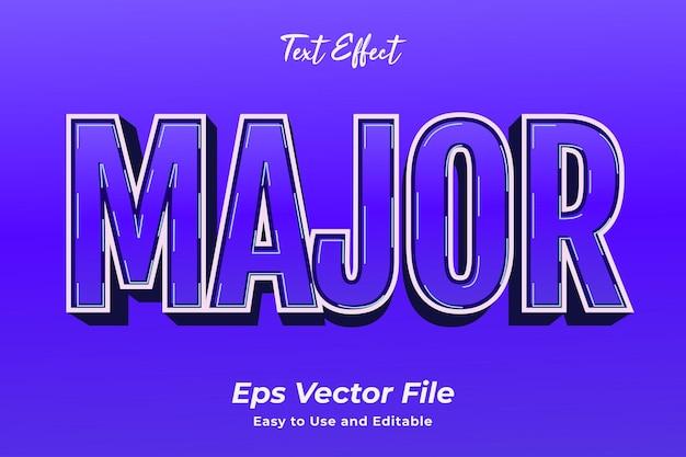 Текстовый эффект основной эффект редактируемой типографии