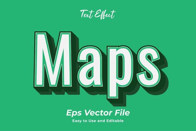 テキスト効果マップ使いやすく編集しやすい高品質のベクター