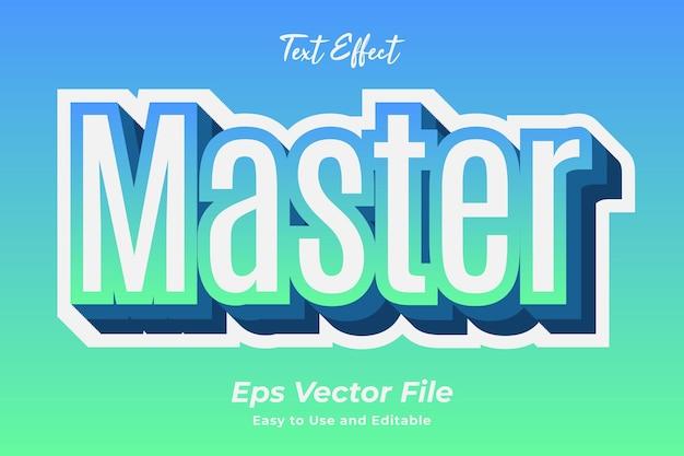 Текстовый эффект мастер редактируемый и простой в использовании премиум векторы