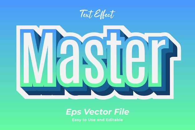 Text effect master editable and easy to use premium vector