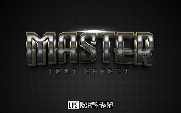 Text effect master, editable style effect template