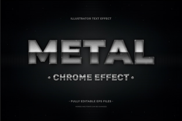 Text effect metal