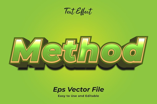 Text effect method editable and easy to use premium vector