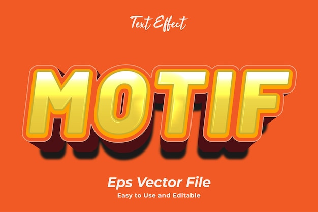 Text effect motif editable and easy to use premium vector