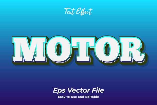 Text effect motor editable and easy to use premium vector
