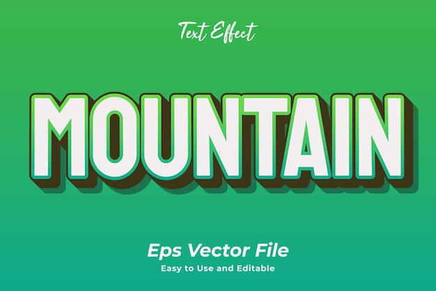 Text effect mountain editable and easy to use premium vector