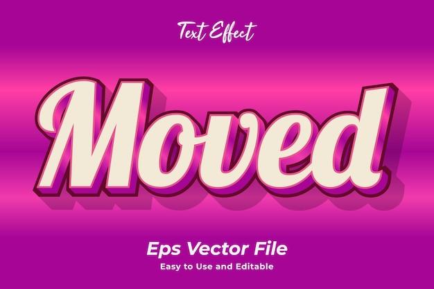 テキスト効果移動編集可能で使いやすいプレミアムベクター