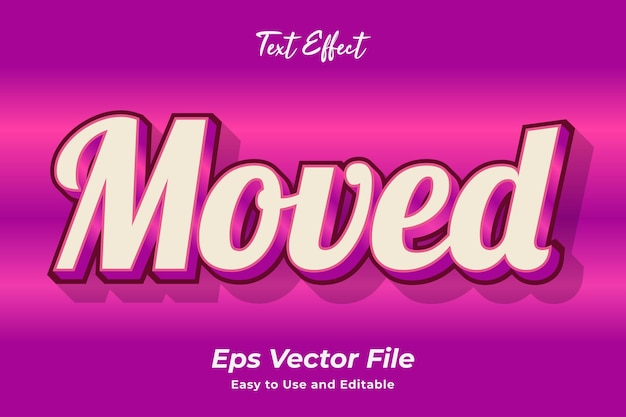 Text effect move editable and easy to use premium vector