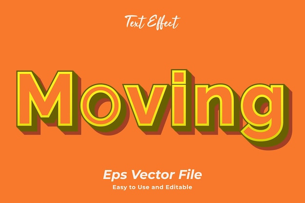 Text effect moving editable and easy to use premium vector