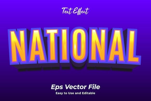 Text effect national editable and easy to use premium vector
