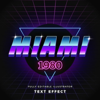 Text effect neon concept