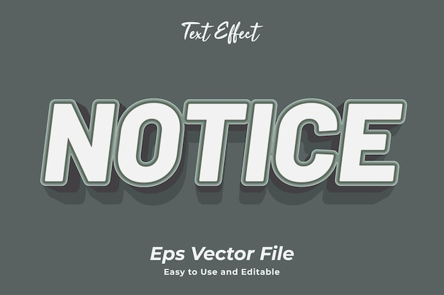 Уведомление о текстовом эффекте редактируемое