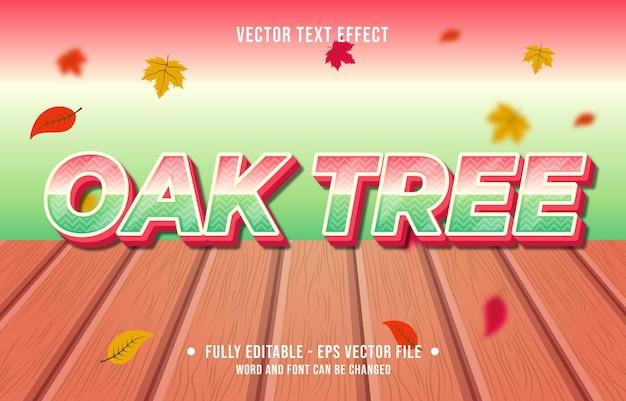 텍스트 효과 오크 나무 그라데이션 스타일 가을 시즌 배경