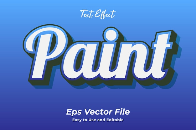 텍스트 효과 페인트 편집 가능하고 사용하기 쉬운 프리미엄 벡터