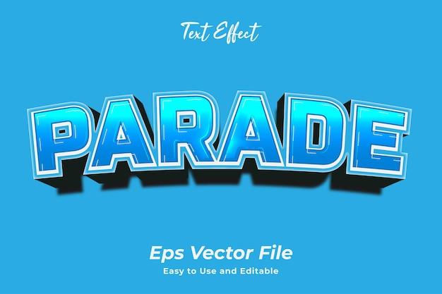 Текстовый эффект parade редактируемый